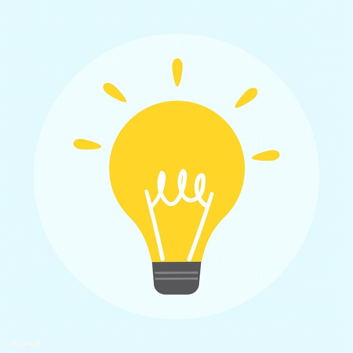 Download Premium Vector Of Illustration Of Light Bulb Icon 401031 Light Bulb Icon Light Bulb Illustration Light Icon