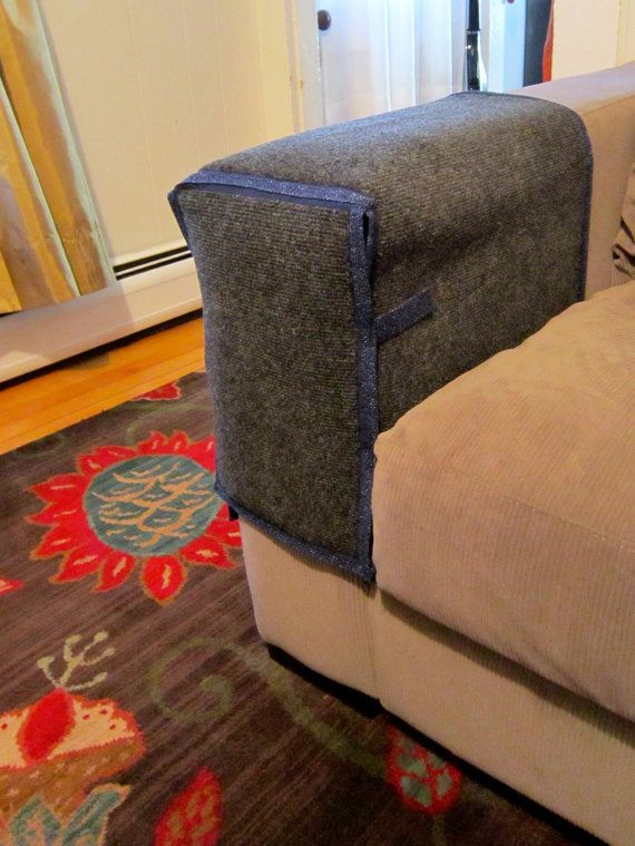 Cat Scratching Couch Or Chair Arm Protection By