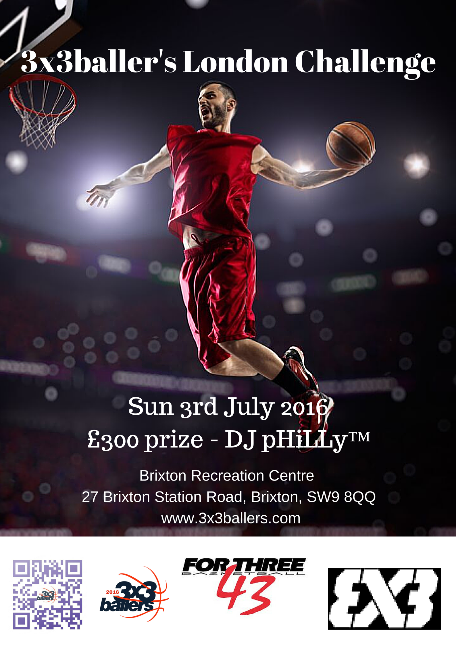 Poster design challenge - The Poster For Our 3rd July London Challenge A Fiba Endorsed 3x3 Basketball Tournament