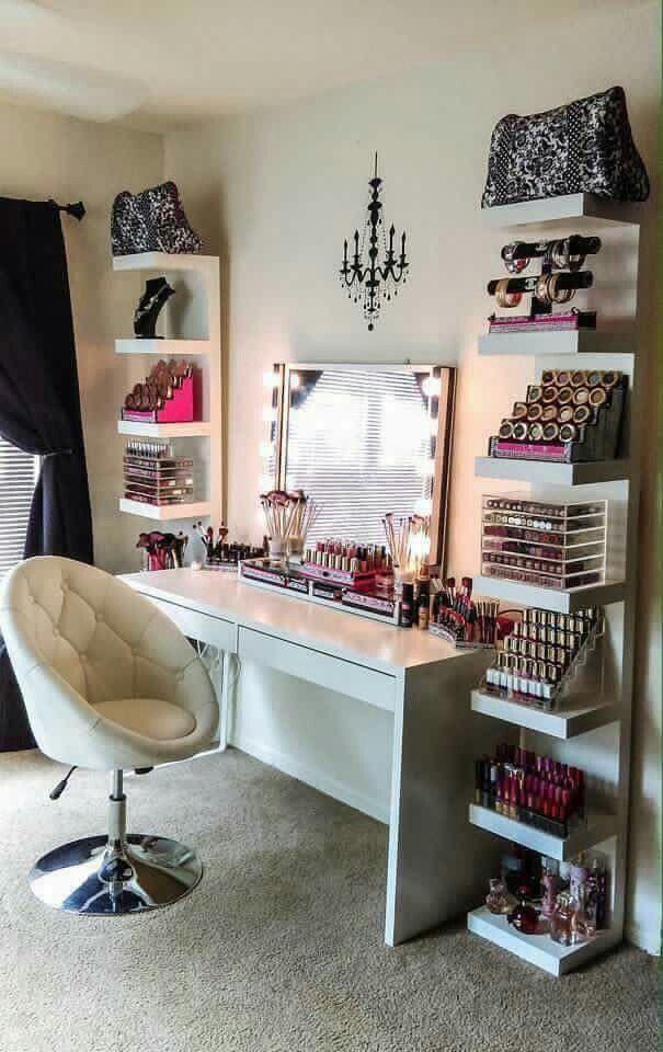 18 stunning bedroom vanity ideas | tisch, ecken aufbewahrung und, Schlafzimmer entwurf
