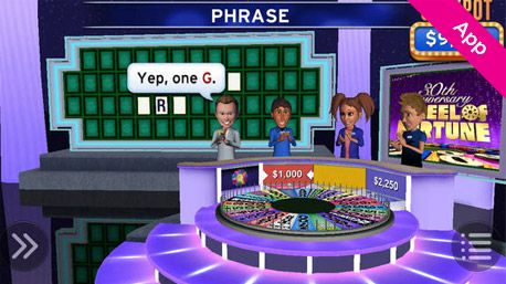 Wheel of Fortune: Lite Game: Mobile App: Play through 30 years of Wheel of Fortune's rich history on your iPhone, iPad, or iPod touch as well as Kindle Fire or Android. Take a spin through Solo Mode with Pat Sajak as your host or challenge your friends and family with Pass & Play.