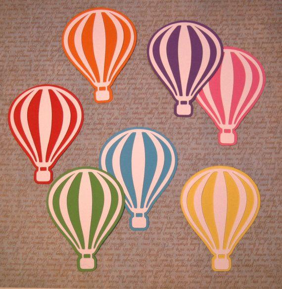 Hot air balloon decor Hot air balloon decorations Die cut balloons Confetti balloon Paper balloon Hot air balloon nursery wall art
