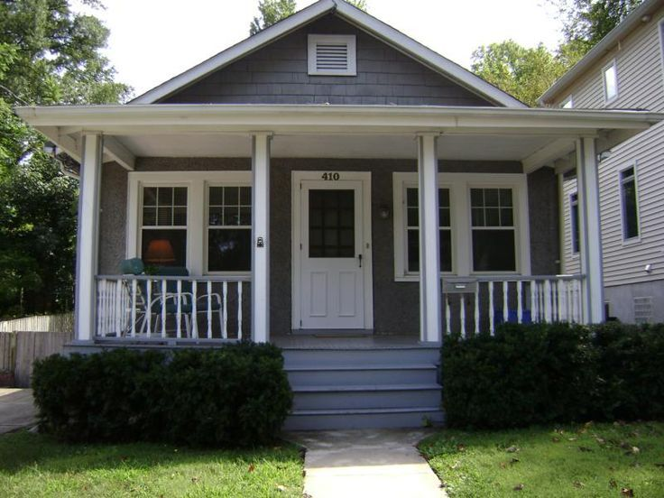 Craftsman bungalow front porch ideas google search for Front deck designs bungalow