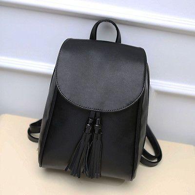 e7361211752 Women s Faux Leather Mini Small Backpack Rucksack Travel Casual Purse Cute  bag