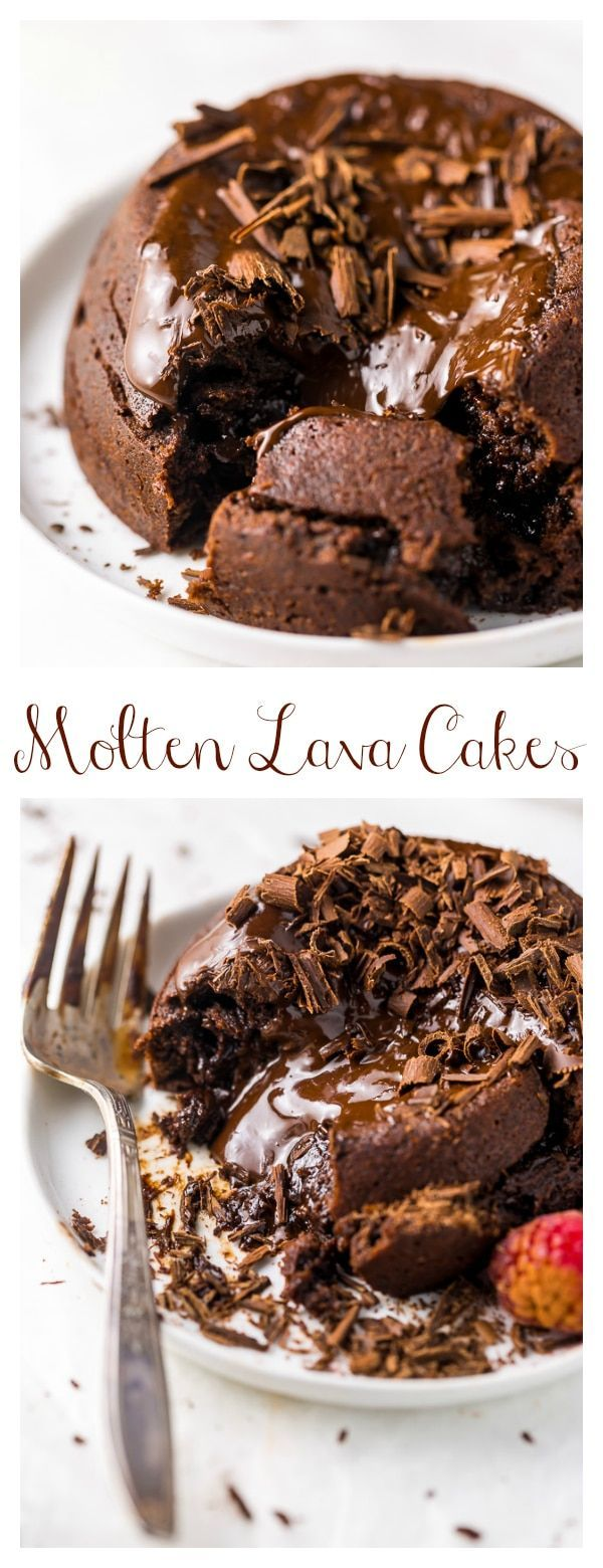 Easy Molten Chocolate Lava Cakes for Two - Baker by Nature