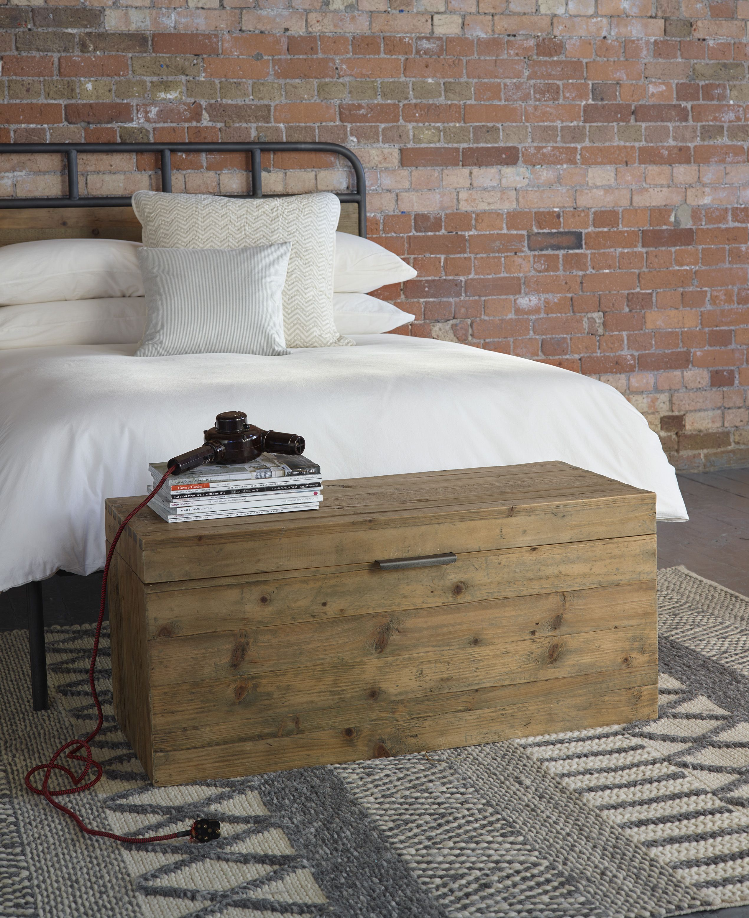 industrial style bedroom furniture. baxter round blanket chest warehouse industrial style bedroom furniture from lombok
