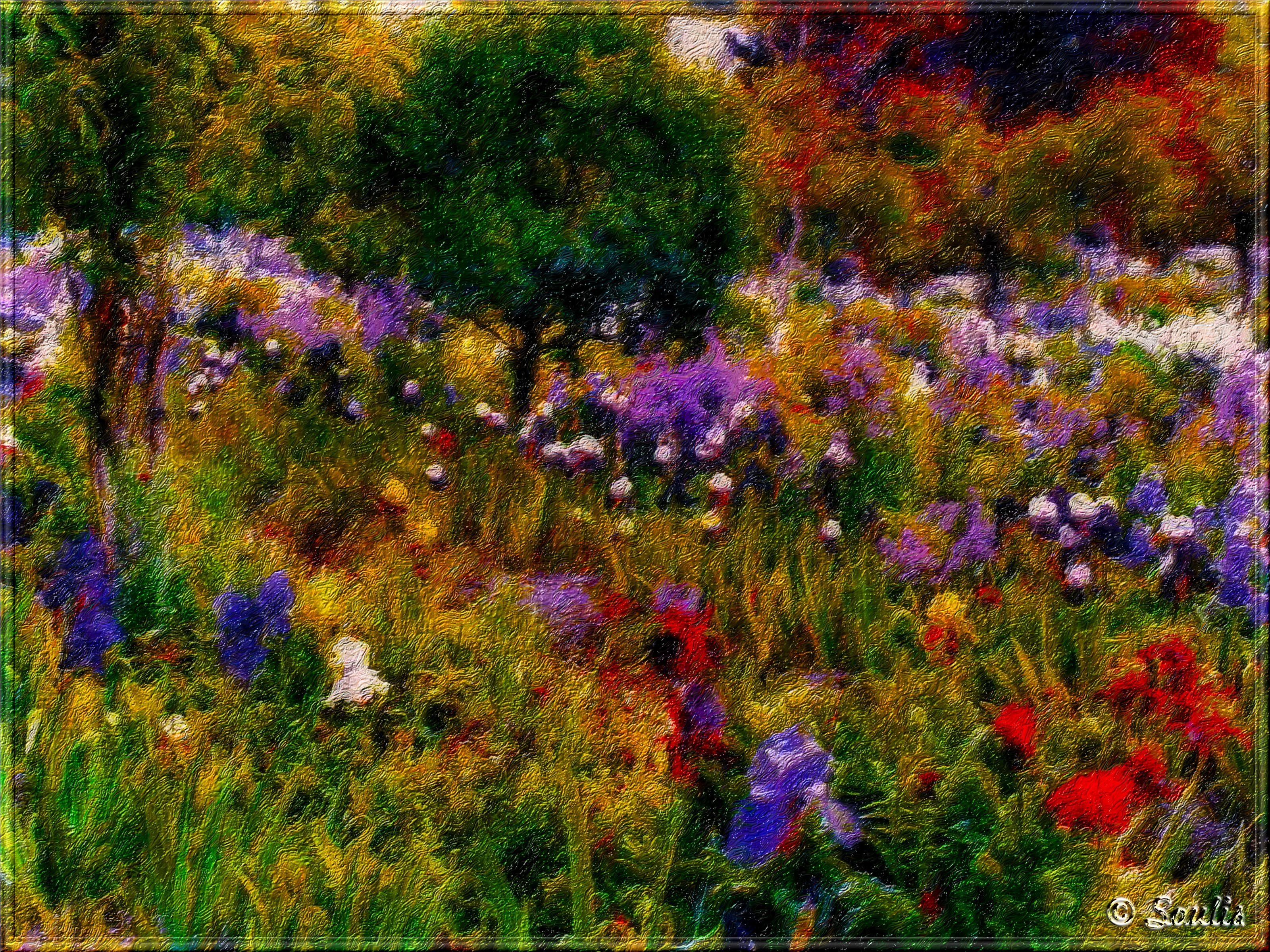 monet garden at giverny | Creative Commons Attribution-Noncommercial ...