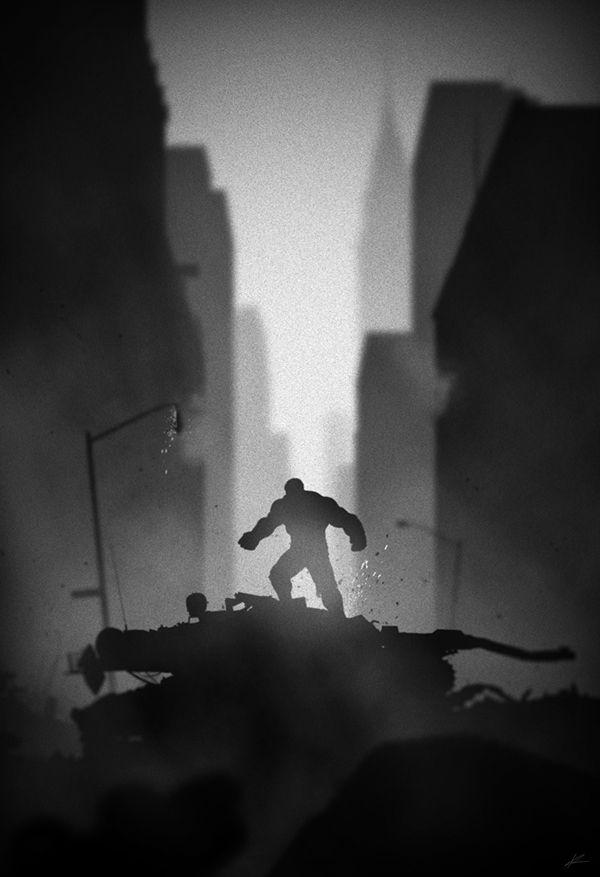Superheroes in noir posters