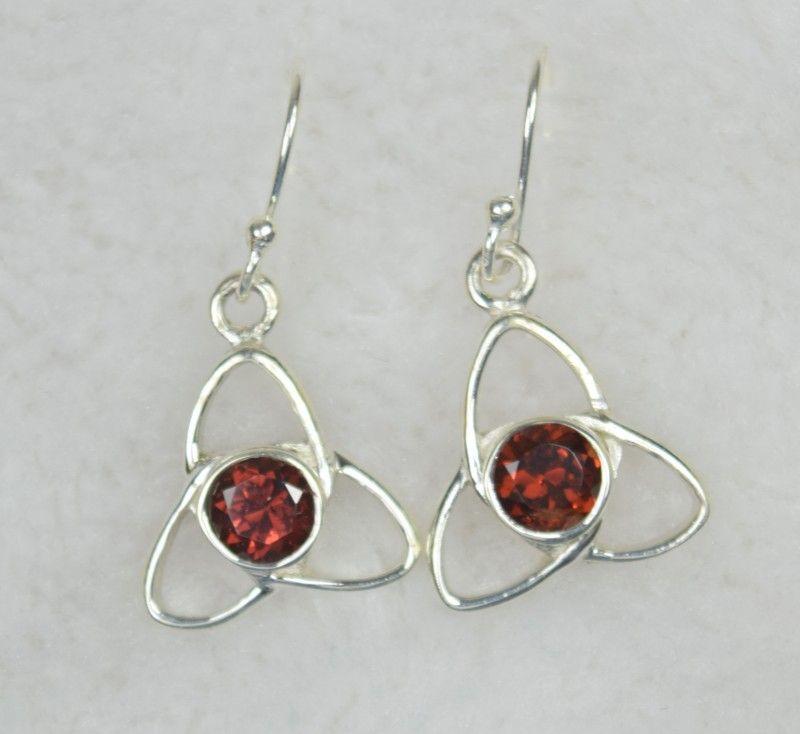 8ffd1f836 Natural untreated garnet earrings 925 sterling silver je533 ...