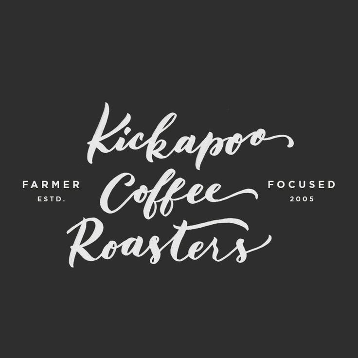 kickapoo coffee roasters logo by wit and co.