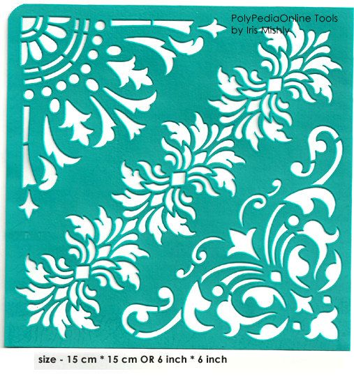 Handmade Flexible Self Adhesive Stencil Sheet For Paper Wood Crafts Decoration