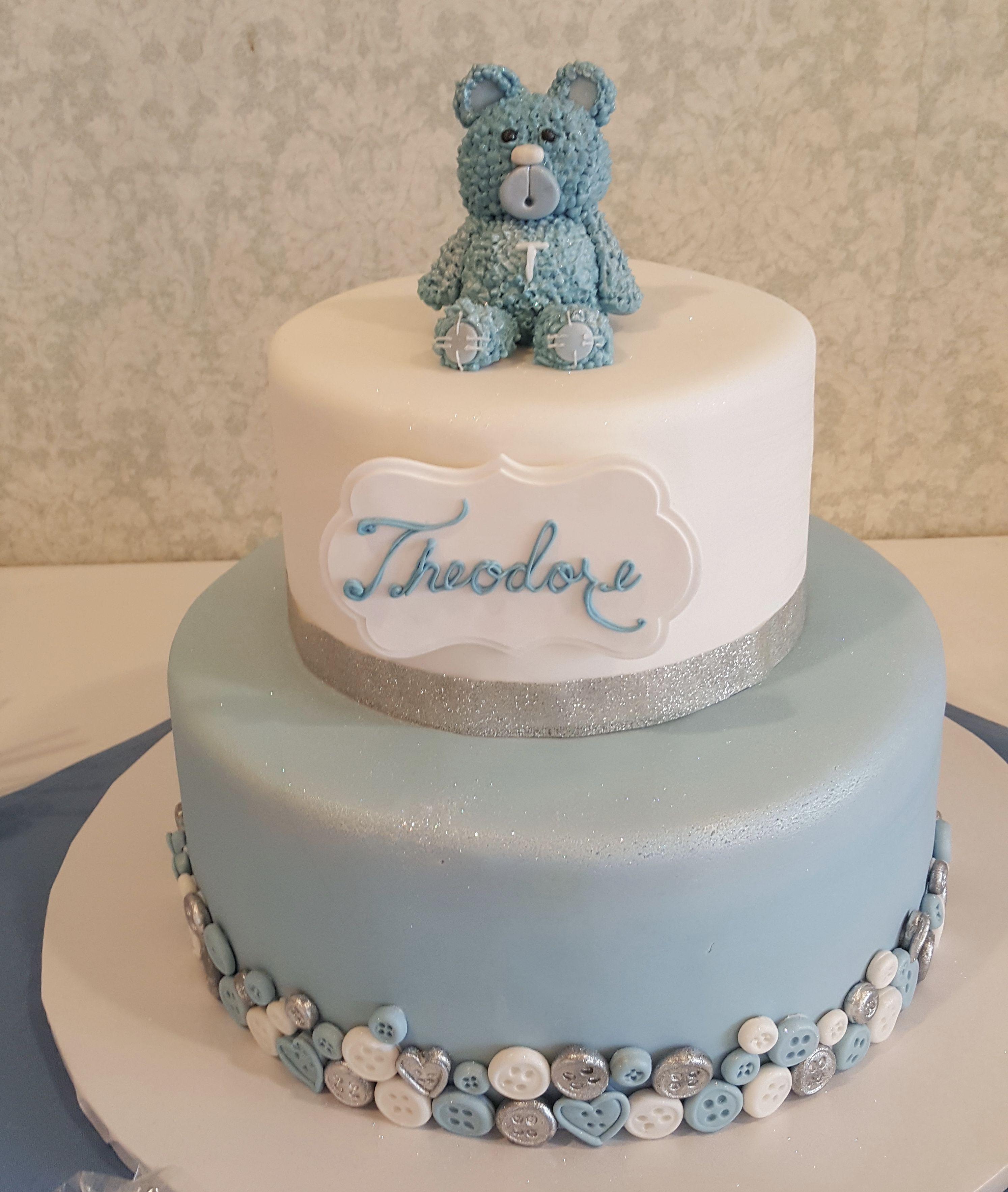 Calumet Bakery Teddy Bear Baby Boy Shower Cake