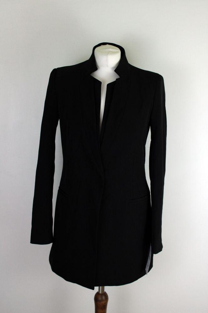 3c483e8d ZARA new black women coat jacket Size S UK 8 #Zara | ZARA | Coats ...