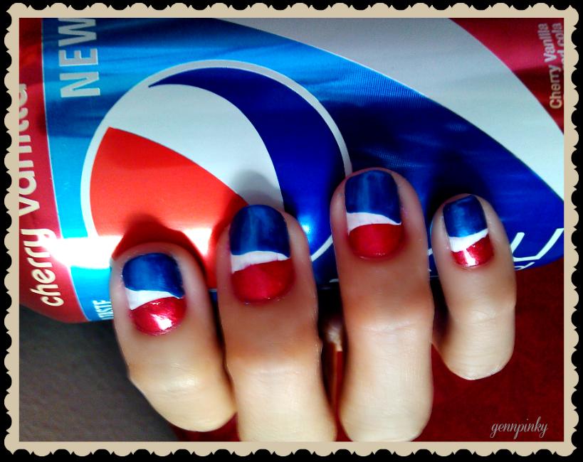 Pepsi logo nail art.. Pepsi, Pepsi logo, Nail designs 2016