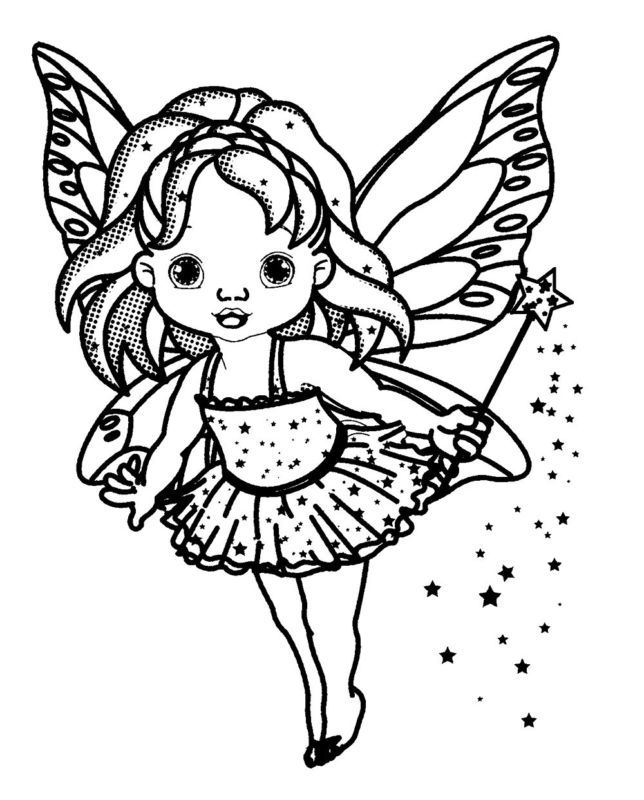 Clear Stamp 2 5 X3 Kid Fairy With Magic Wand Fantasy Rubber Stamp Flonz Um Crafts With Pictures Coloring Pages Clear Stamps