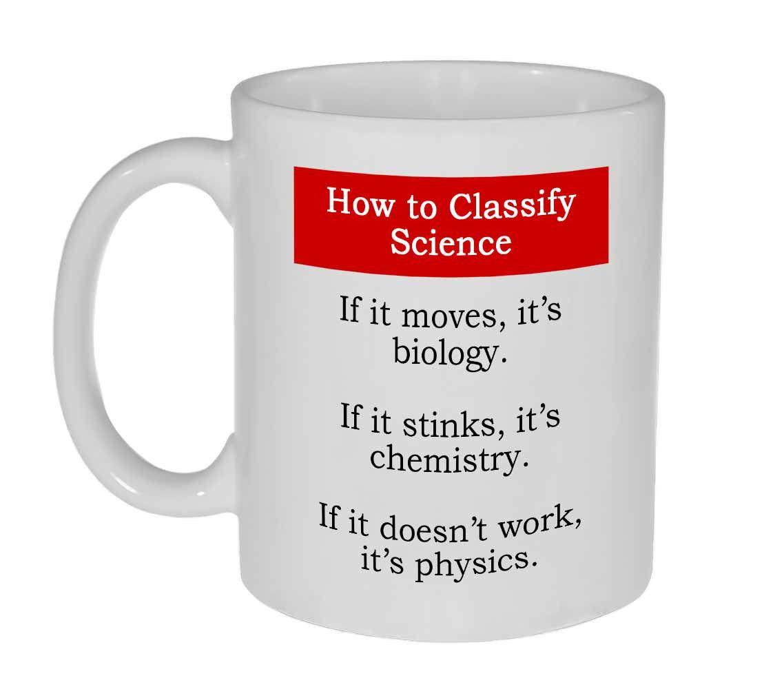 11oz Ceramic Mug With How To Classify Science Design