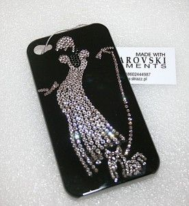 Etui Iphone 5s Dama Z Pieskiem Zdobienie Swarovski Iphone 5s Iphone Phone Cases