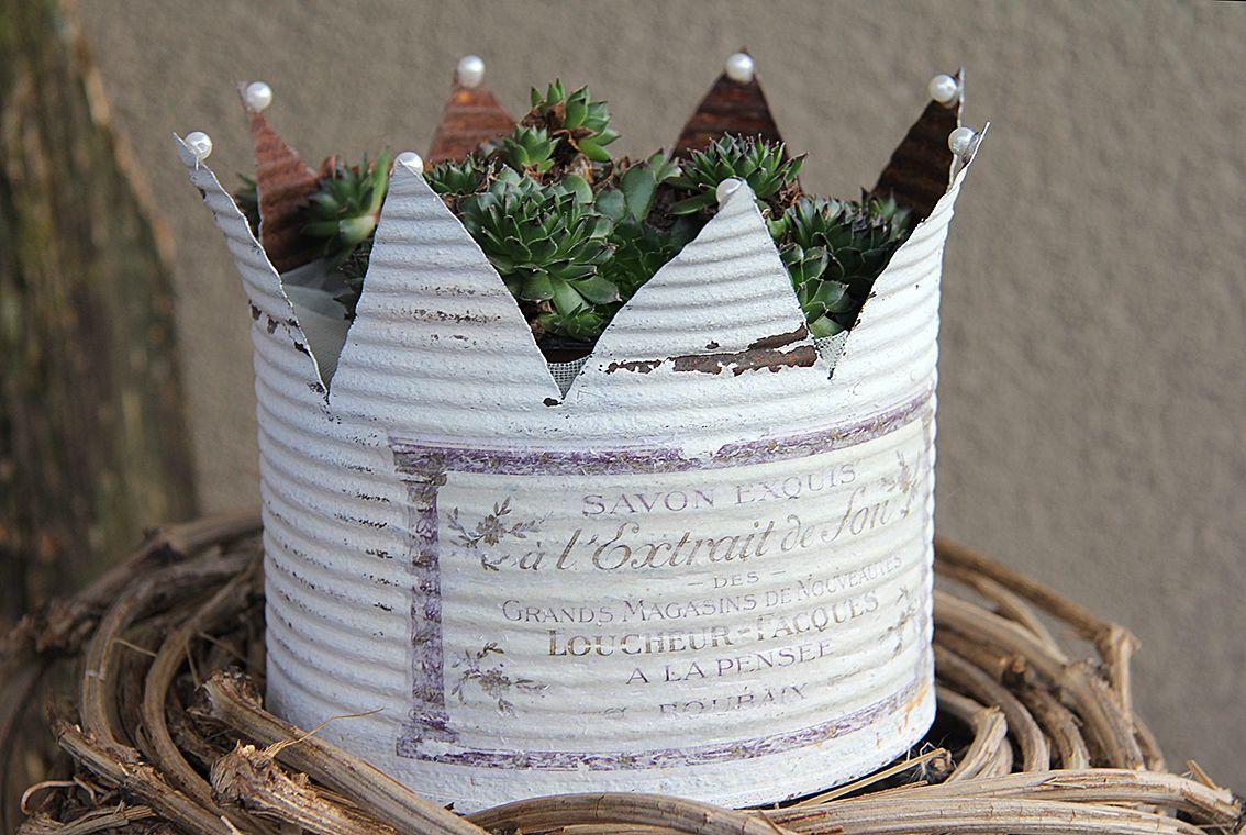 Pin von manusfaktur auf vintage kronen basteln weihnachten und blechdosen - Blechdosen dekorieren ...
