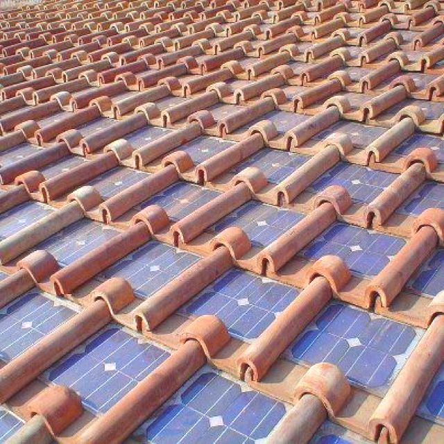 Solar Panels Set Into Clay Roofing Tiles Solar Home