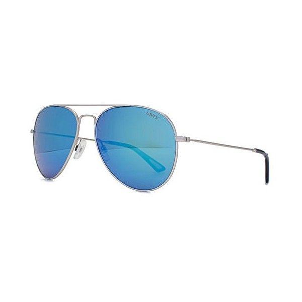 f69dfec32abe Levis Classic Aviator Sunglasses (£75) ❤ liked on Polyvore featuring  accessories, eyewear, sunglasses, aviator style sunglasses, levi glasses  and aviator ...