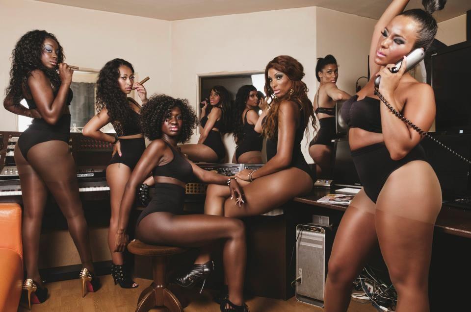 ebony bikini models