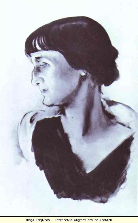 Ritratto di A. Akhmatova, N. Tyrsa 1928