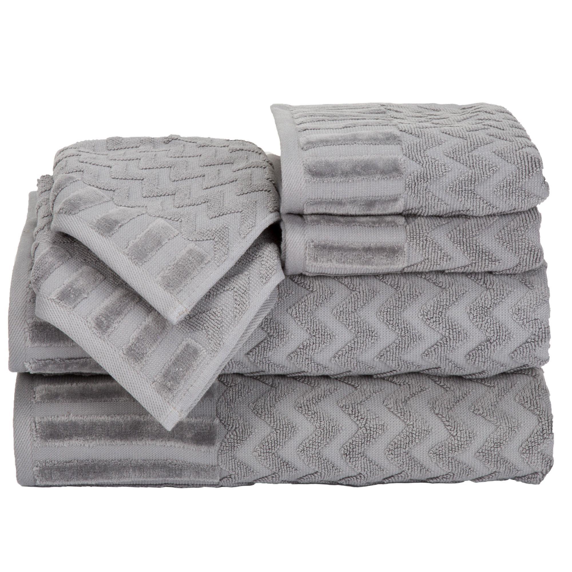 6 Piece Chevron Towel Set With Images Chevron Towels Towel Set