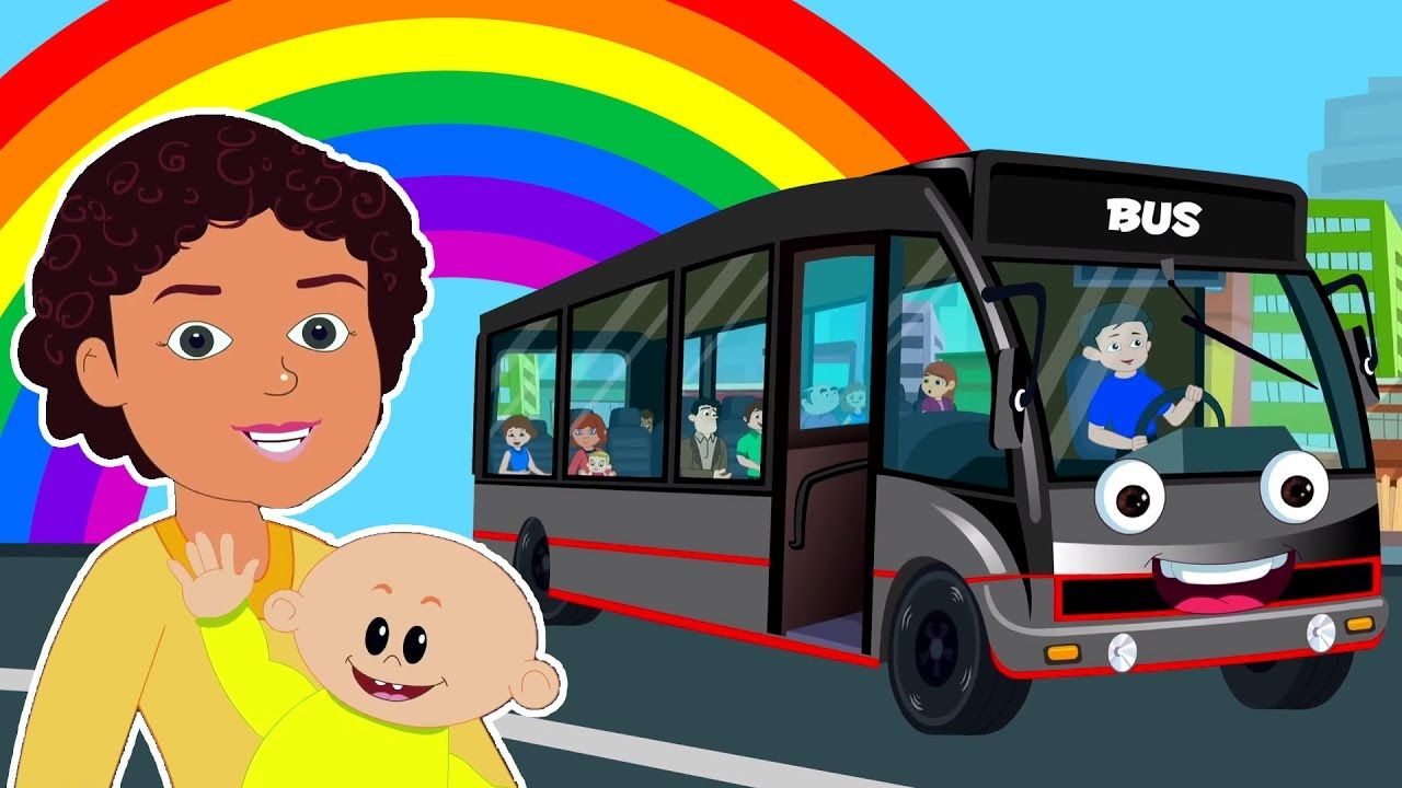 Wheels On The Bus Go Round And Round Popular Kids Rhymes Kids