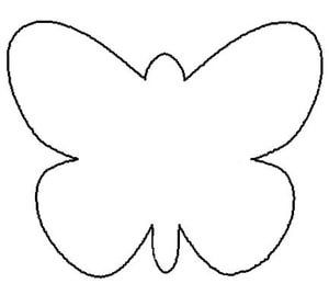 Try This Free, Printable Butterfly Coloring Page: Free Butterfly Pattern