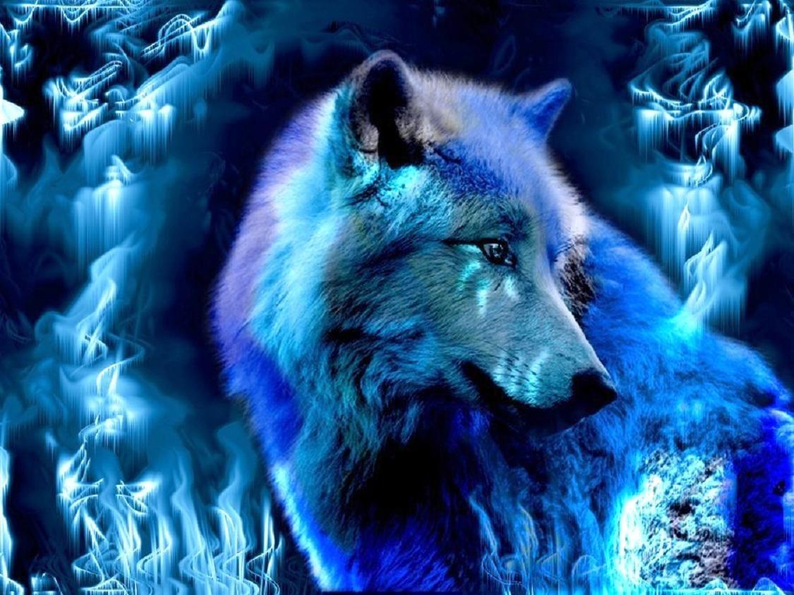 Blue Wolf Dark Creatures Fantasy Abstract Fantasy Wolf Wolf Wallpaper Wolf Spirit