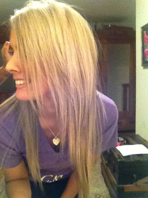 Blonde blonde blonde blonde on natural black hair.