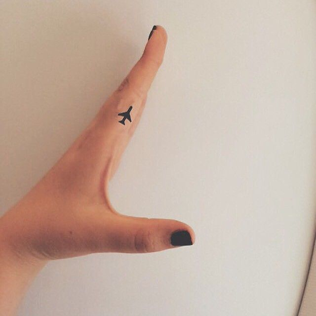 Tiny Plane Tattoo Plane Tattoo Airplane Tattoos Travel Tattoo
