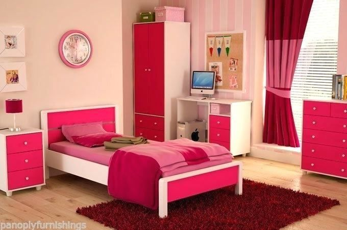 Pink And White High Gloss Bedroom Furniture In 2020 Bedroom Furniture Furniture Home Decor
