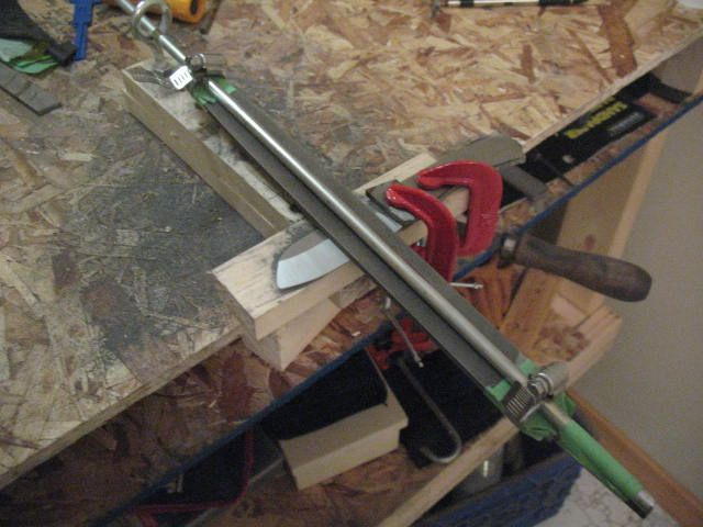 Here Is My Homemade Bevel Jig It Is To Help Me Keep A