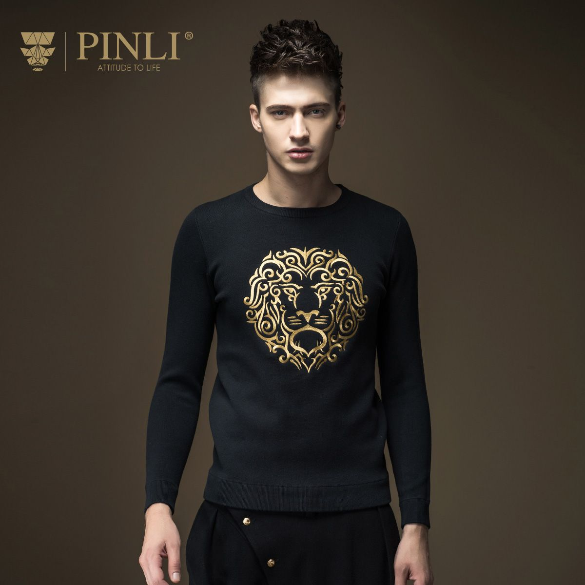 2017 Sudaderas Pullover Men Pullover Men Sale O-neck Standard Pinli Autumn New Arrival Slim Embroidered Sweater Male B16321625