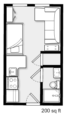 A Teeny Tiny Nyc Studio Apartment Tiny House Floor Plans Apartment Floor Plan Apartment Floor Plans