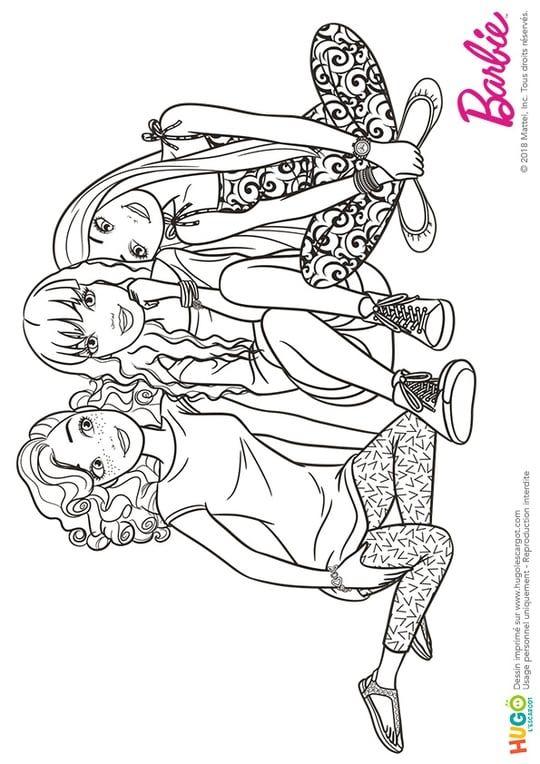 Barbie Fashionistas, un peu de repos   Coloriage barbie, Coloriage, Coloriage arbre