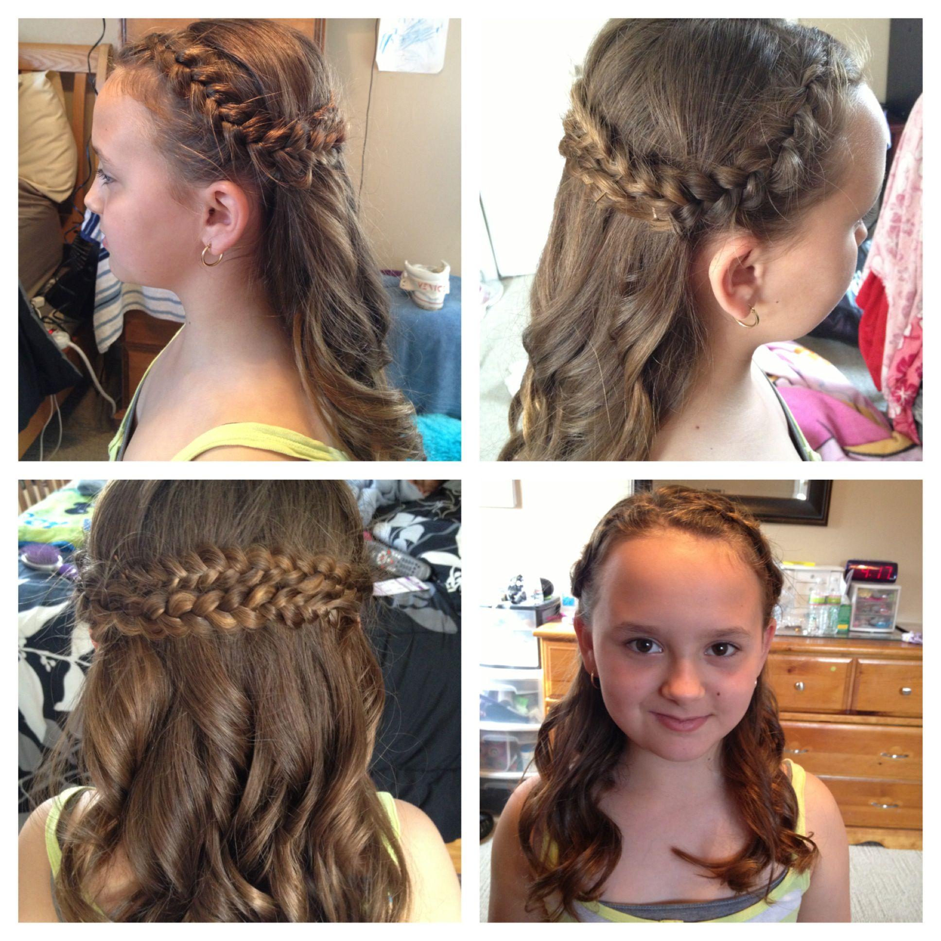 Copycat of Selena Gomez French braid Dutch braid Half up