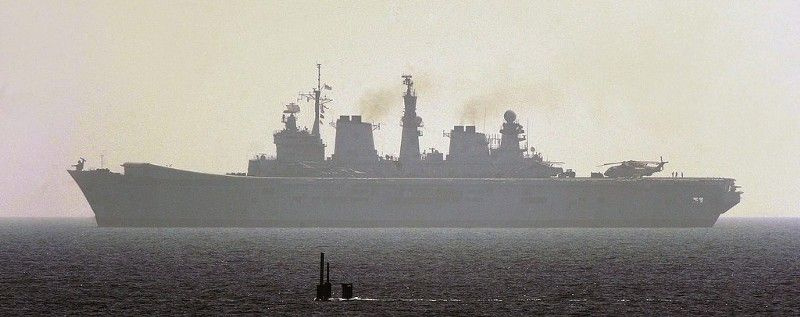 How to Sink an Aircraft Carrier — War Is Boring — USS Dallas and HMS Illustrious. Crown photo