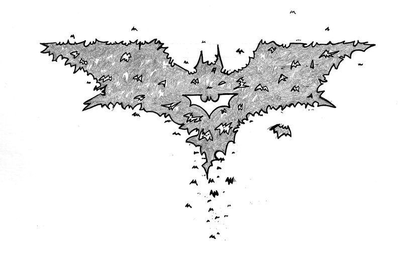 Dark Knight Batman Symbol Outline The Tattoo