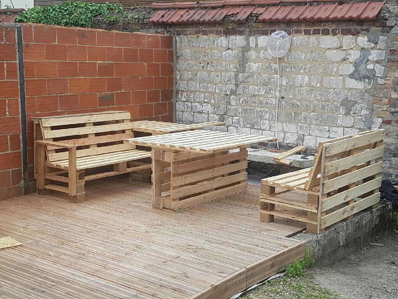 Salon de jardin palette bois | RECUP PALETTES CHANTIER | Pinterest