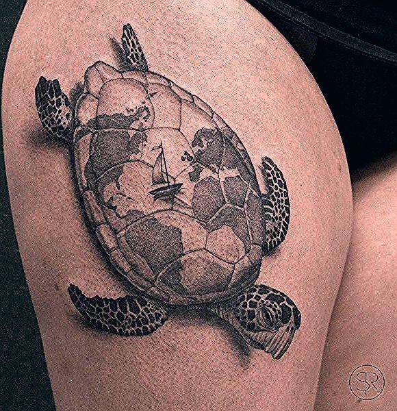 Photo of 45 Schildkröte Tattoo Design-Ideen – Tattoo Motive