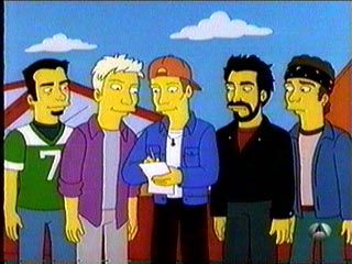Nsync = The Simpson. I've got this recorded on a tape somewhere!