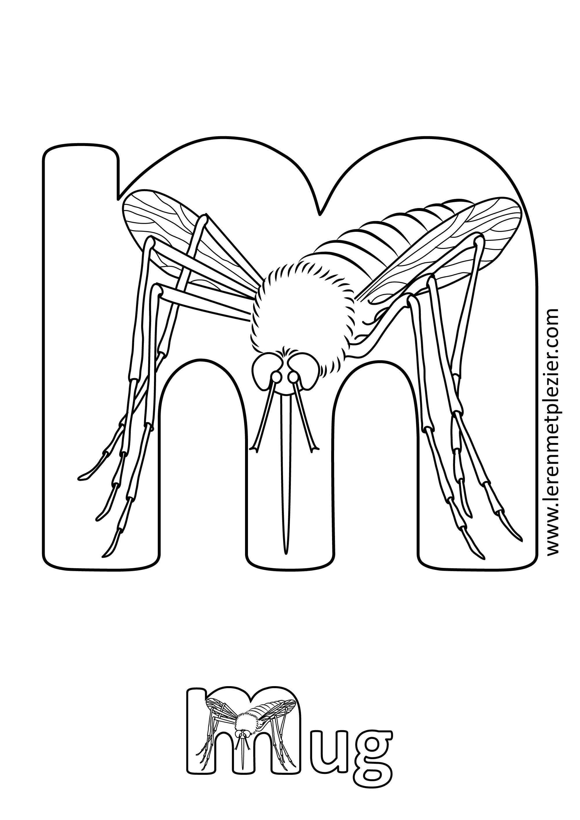 Letter M Op Basis Van Geheugensteuntjes Voor Het Abc Zelf