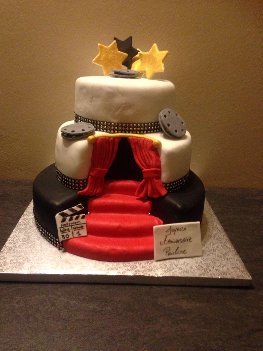 birthday cake hollywood Pâte à sucre, Anniversaire, Cake