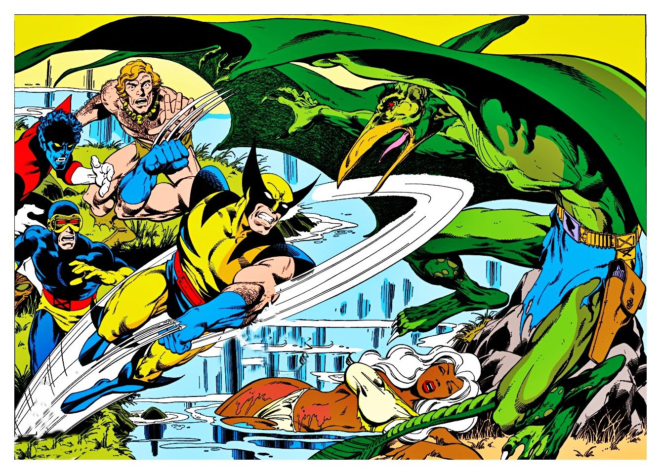 X Men Vs Sauron In The Savage Land Xmen Art Comics Comic Book Artists