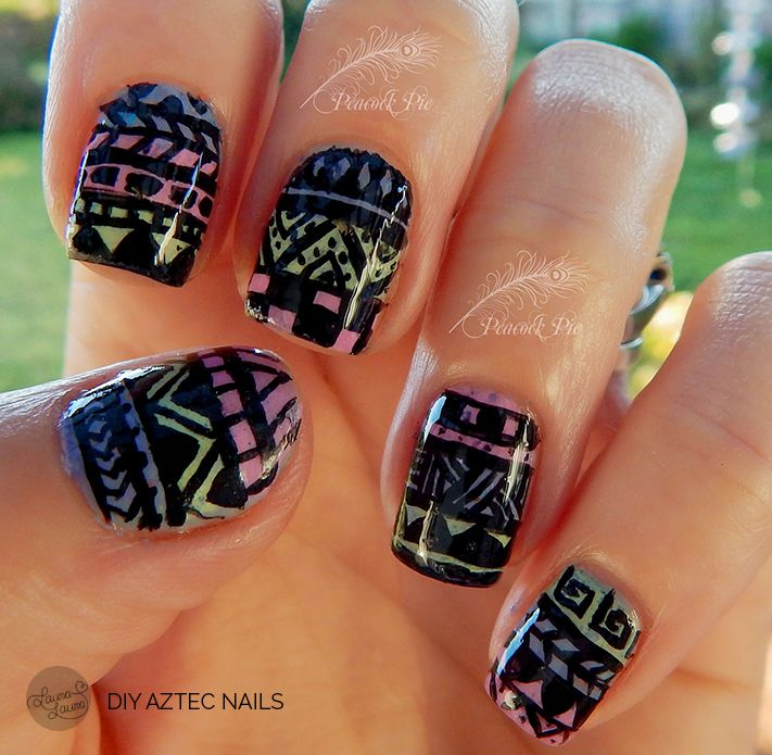 Nail Tutorial From Peacock Pie Aztec Nails Do It For Yourself