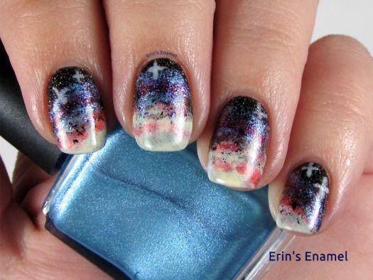 Hpb presents space galaxy nail art galaxy nail art and galaxy hpb presents space galaxy nail art erins enamel prinsesfo Gallery