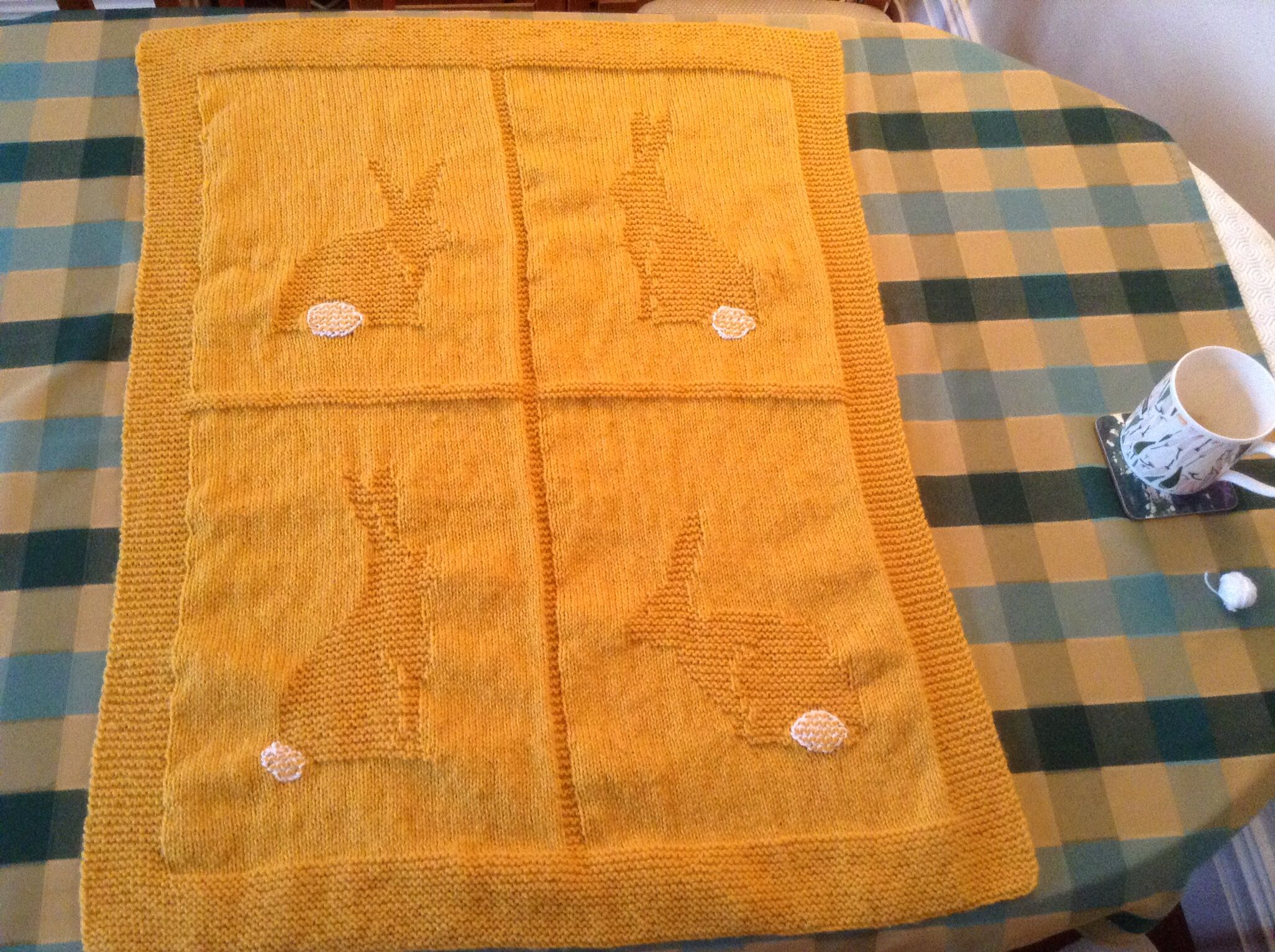 bunny blanket project by Heather L | Blanket knitting ...