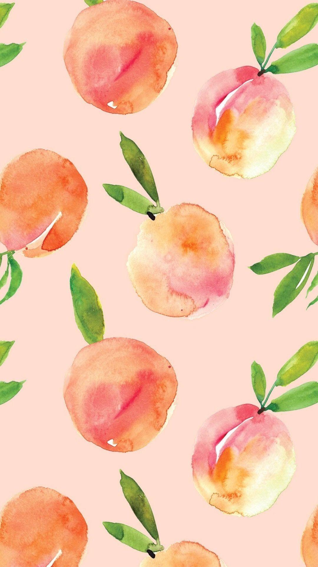Oceanbreezeandhoneybees Oldfarmhouse Watercolour S Pinterest Com Wallpaper Iphone Summer Peach Wallpaper Watercolor Wallpaper